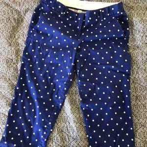 J. Crew polka dot cropped pants